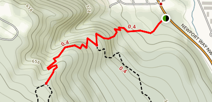 Big Tree Ridge Trail: Short Version Map