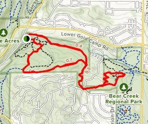 Bear Creek Regional Trail with Nature Preserve Map