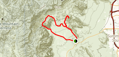 Grand Circle, Turtlehead Peak, and White Rock Loop Map