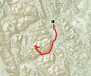 Banded Peak and Outlaw Peak Map