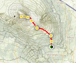 Mount Kilimanjaro via Marangu Map