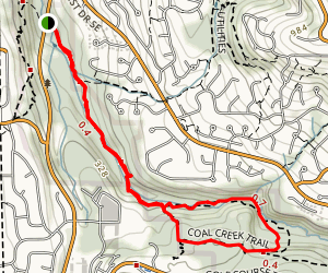 Coal Creek to Primrose Trail Map