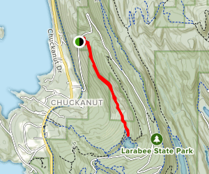 Fragrance Lake via Two Dollar Trail from Cleator Road Map