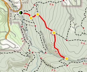 Cave Hole Trail to Coal Creek Falls Trail Map