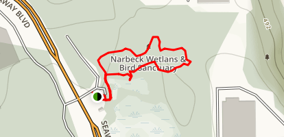 Narbeck Sanctuary Boardwalk Loop Map