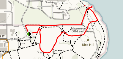 Warren G. Magnuson Park Loop Map
