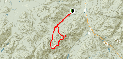 Lower/Upper Wolfjaw, Armstrong, and Gothics Loop Trail Map