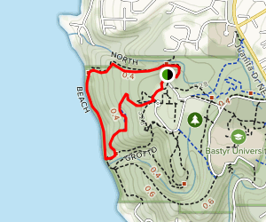 North, Beach and Seminary Trail Loop Map