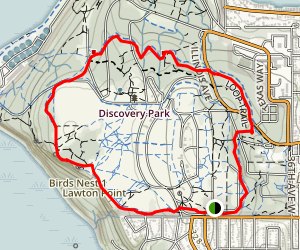 Loop Trail via West Emerson Street Entrance Map