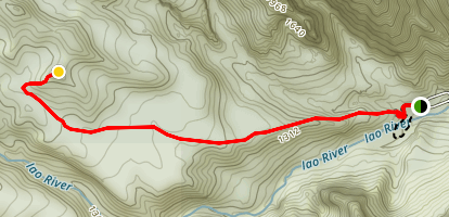 """Iao Valley """"Secret"""" Trail [CLOSED] Map"""