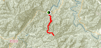 Wesser Bald via Appalachian Trail Map