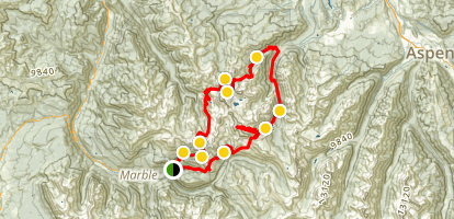 Maroon Bells Lost Creek, Capitol Peak, Snowmass Mountain Loop Map