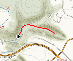 Meadow Ledge Upper Trail Map