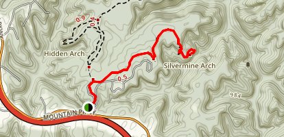 Silvermine Arch Trail Map