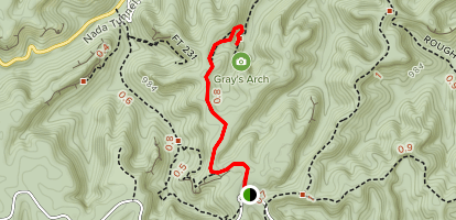 Gray's Arch Trail Map