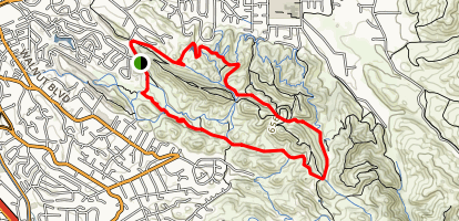 Corral Spring Trail to Indian Creek Trail Loop Map