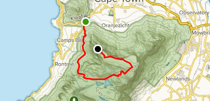 Kasteelspoort to Upper Cable Station via Pipe Track and Maclear's Beacon Map