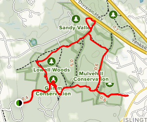 Lowell Woods and Sandy Valley Loop Map