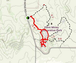 Paint Mines Interpretive Trail Loop Map