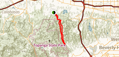 Hectic Trail to Sullivan Canyon Loop Map