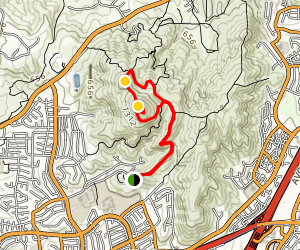 Black Mountain via Nighthawk and Miner's Ridge Loop Map