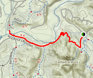 Cathedral Rock to Red Rock Crossing Map