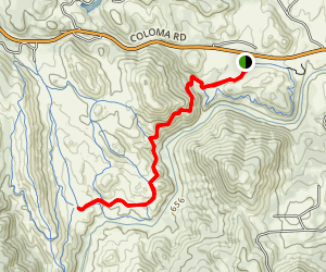 Gerle Loop Trail to Down and Up Trail  Map