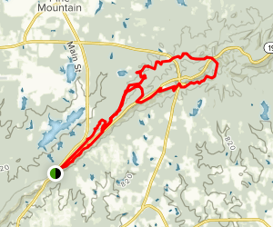 Pine Mountain Trail - East Section Hike Map