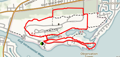 Sand Pine Loop and Big Lagoon Observation Tower Map