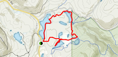 McQueen and Griffin Lakes Loop Map