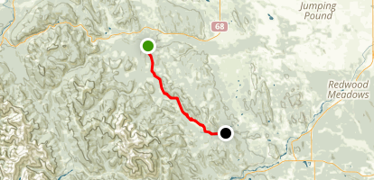 Trans Canada Trail: Jumpingsound to Westbragg Creek Trailhead Map