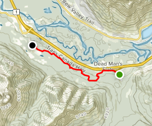 Trans Canada Trail: Pigeon Mountain Rundle Rock Quarry to Three Sisters Mountain Village Map
