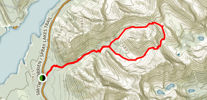 Buller Pass Loop via North and South Map