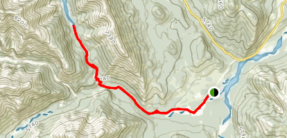Nahahi Creek Canyon Map