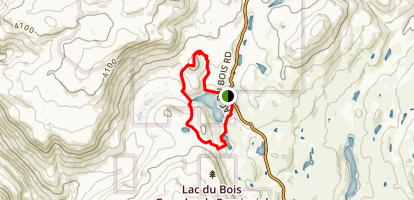 Lac du Bois Loop Map