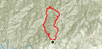 Noland Divide Trail to Deep Creek TrailLoop Map