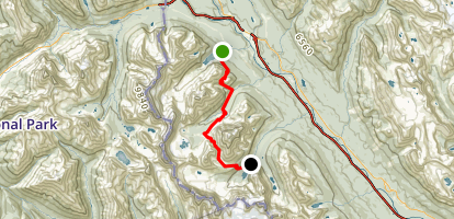 Paradise Valley to Moraine Lake Map