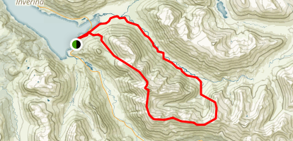 Sgurr Fuaran, Sgurr na Carnach, Sgurr na Ciste Duibhe and Saileag Loop Map