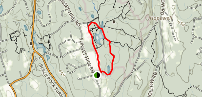 White Trail to Blue Trail Loop Map