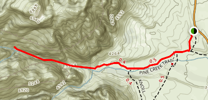 Pine Creek Trail and Climbers Trail to Mescalito Map