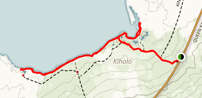 Kiholo Bay and Wainanalii Lagoon Map