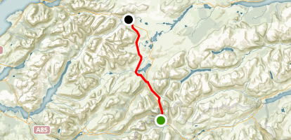 West Highland Way Tyndrum to Kings House Hotel Map