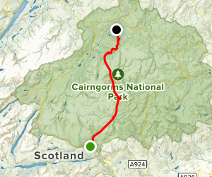 Cairngorms Expedition: Blair Atholl to Nethy Bridge Map