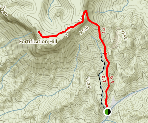 Fortification Hill Map