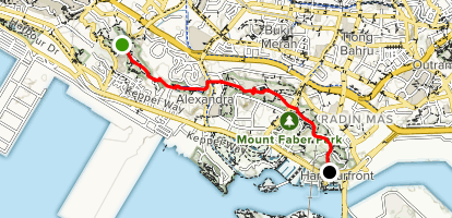 Kent Ridge Park to Harbourfront Map