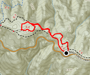 Grassy Hollow to Jackson Flat Map