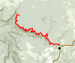 North Rim Trail via Savage Day Loop Map
