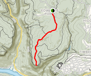 Prentice Cooper Yellow Trail via Edwards Point Map