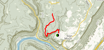 Edwards Point via Signal Point Trail Map