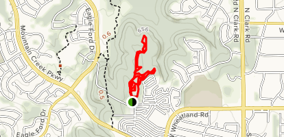 Red Dragonfly and Crooked Tree Loop Map
